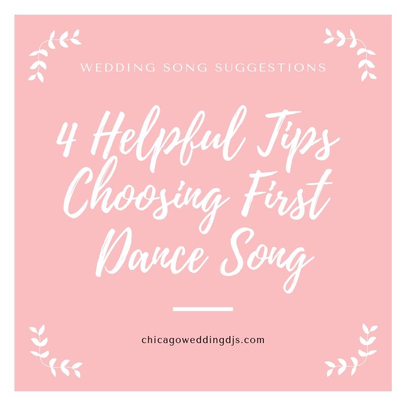 4 Helpful Tips Choosing First Dance Song